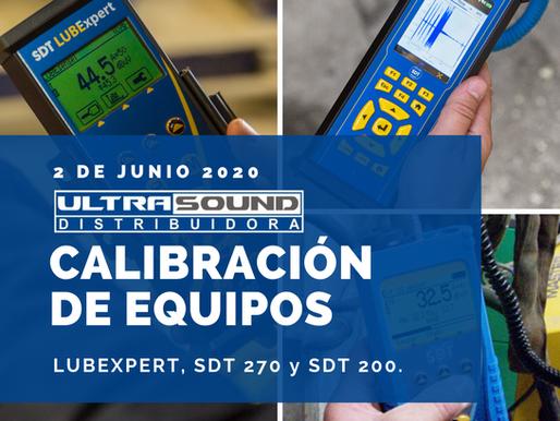 Calibración de Equipos en nuestras instalaciones, 2 de junio 2020