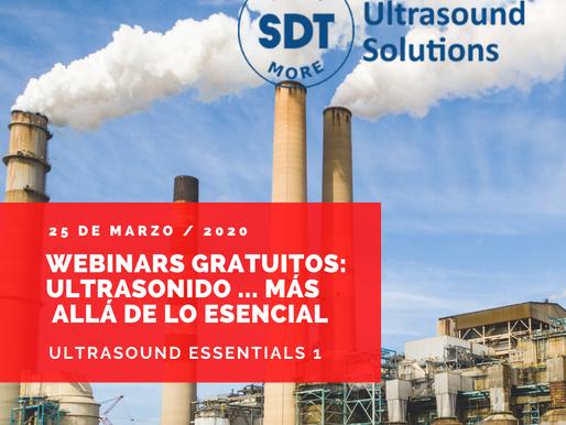 """""""Webinars Gratuitos: Ultrasonido ... más allá de lo esencial"""", 25 de marzo 2020"""