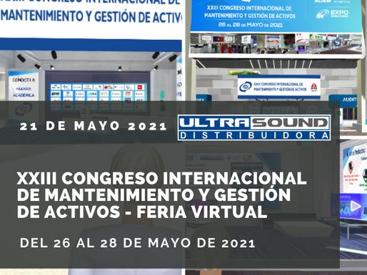 """""""XXIII CONGRESO INTERNACIONAL DE MANTENIMIENTO Y GESTIÓN DE ACTIVOS"""", 21 de mayo 2021"""