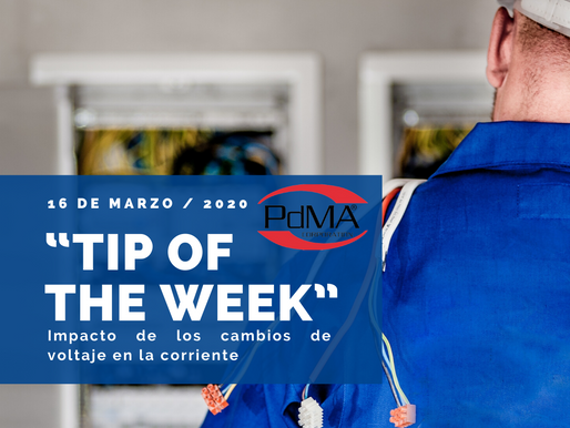 """TIP OF THE WEEK"" de Pdma Corporation, 16 de marzo 2020"