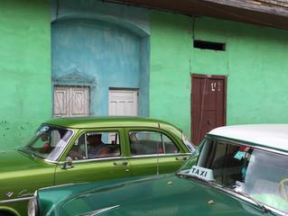Grün, grün, grün und blau