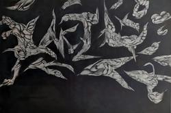 LANGSOBER, 2021, Oel&Acryl auf Baumwolle, 80x120 cm