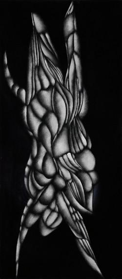 VILOMIRA, 2021, Oel auf Baumwolle, 90X40 cm
