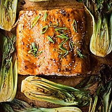 #D5 -  Teriyaki Salmon & Grilled Shanghi