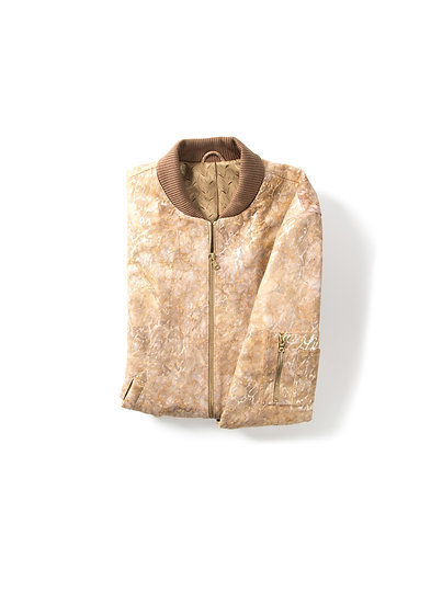 SANDSTORM LEATHER BOMBER