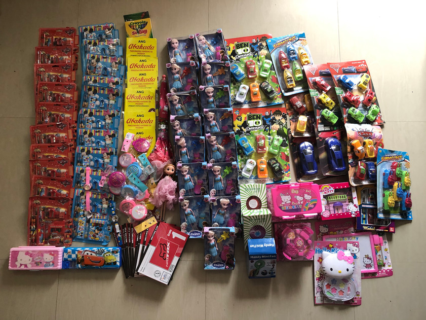 School and toys donations