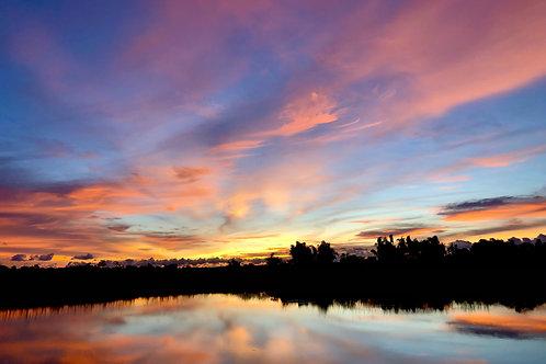 SC Farm sunset photos - framed