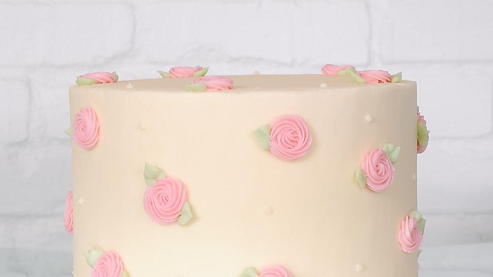 Sweet Rosettes Cake