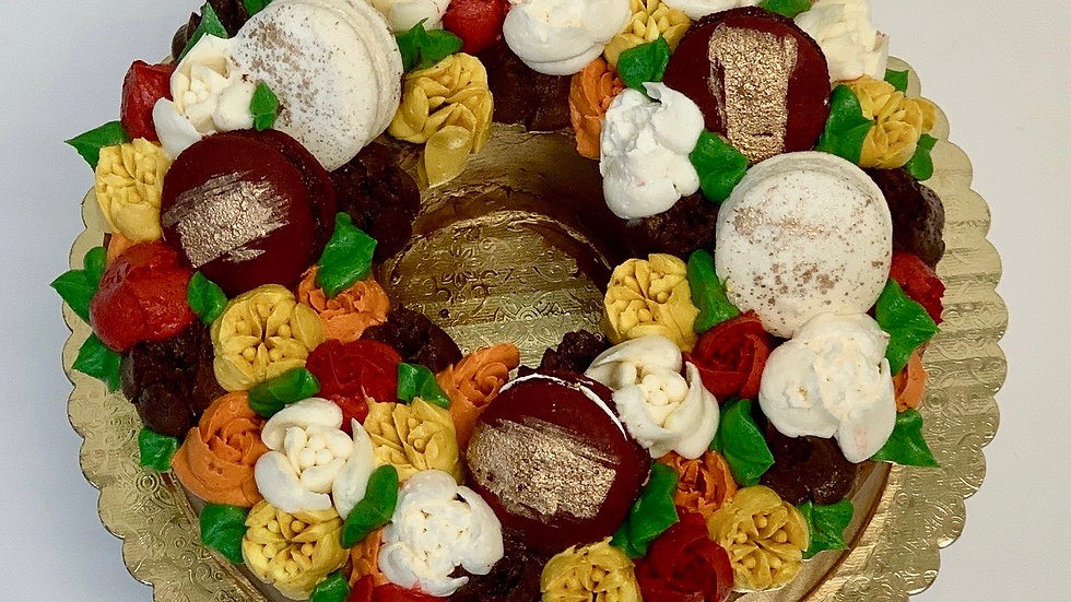 FALL WREATH CUT-OUT CAKE