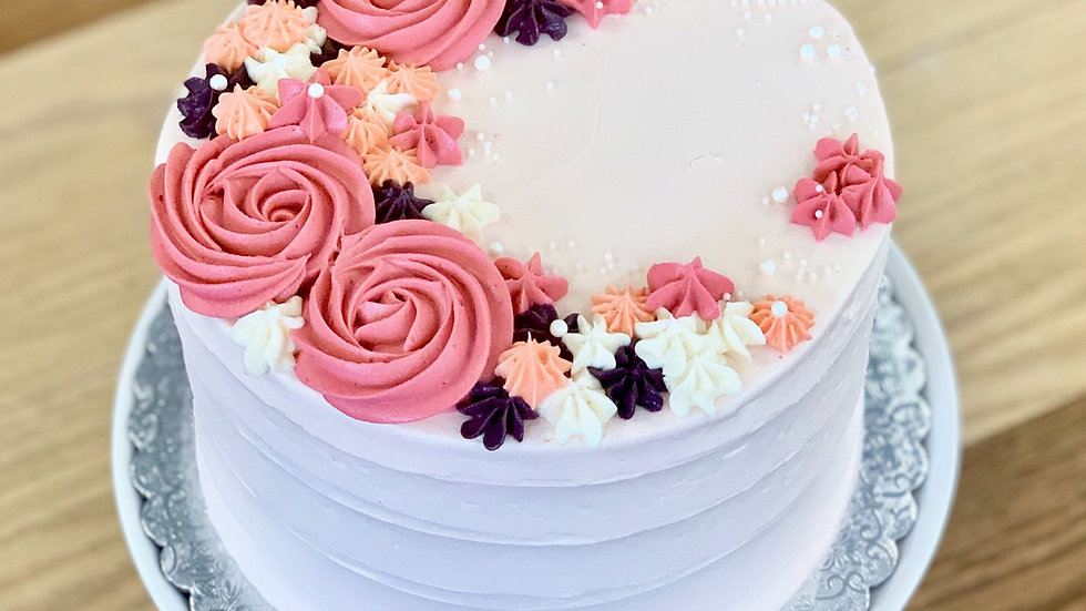 Peach Champagne Cake