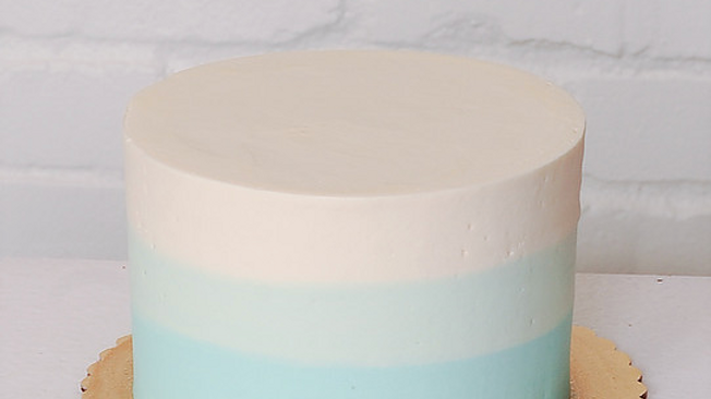 Light Blue Colorblock Cake