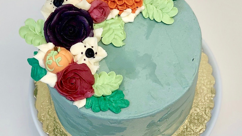 FALL FLOWER SPRAY CAKE