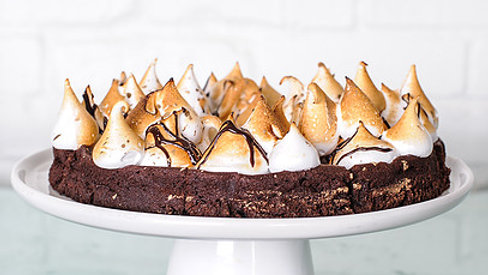 Campfire Flourless Chocolate Cake