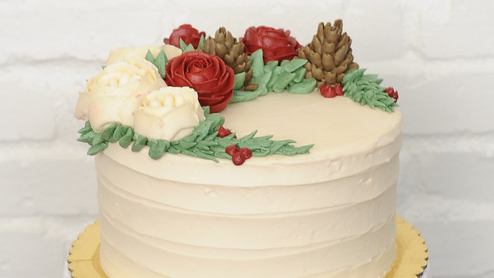MODERN BUTTERCREAM FLOWERS CAKE