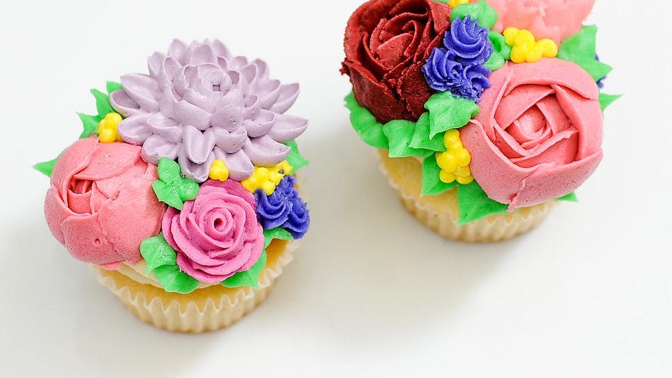 Floral Cupcake Decorating