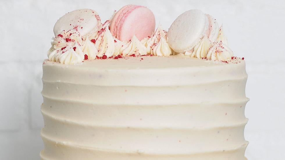 Raspberry White Chocolate Pink Peppercorn Cake