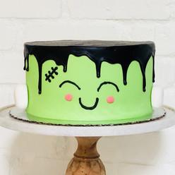 Frankenstein Ganache Drip Cake