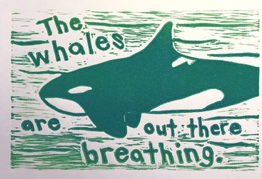 The whales are out there breathing