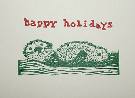 Otter Holiday Card