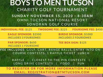 1st Annual Boys to Men Tucson Charity Golf Tournament