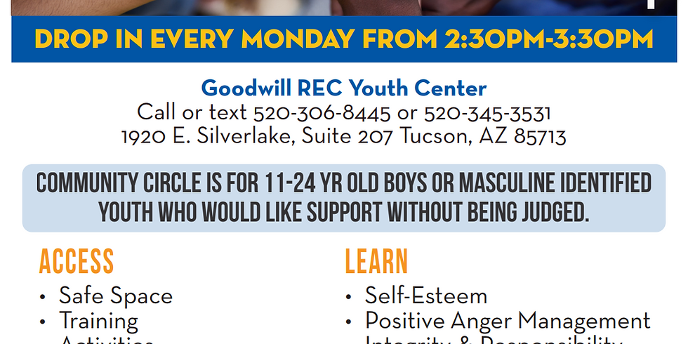 Boy's Community Circle at Goodwill Rec Youth Center
