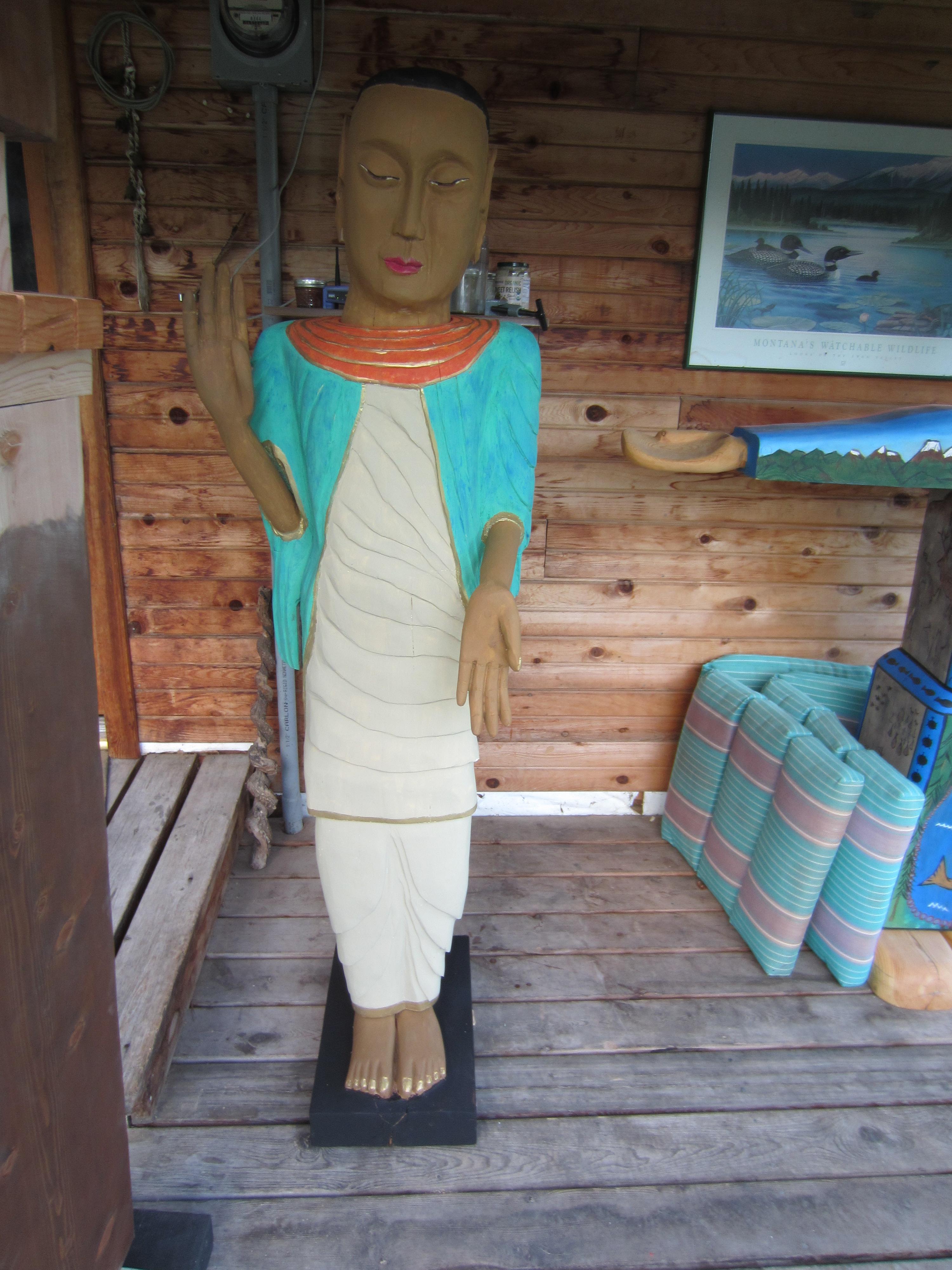 Standing Buddha (wood)