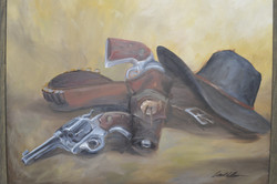 Oil Painting study cowboy shooter