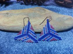 Peyote Triangle Complex Earrings