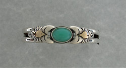 chrysoprase, sterling silver and