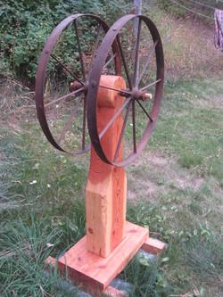 Prairie wheels (metal, wood)
