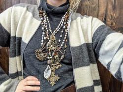 Paula Cornell jewelry on model