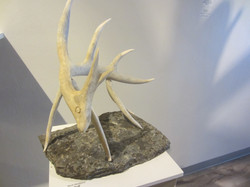 Puff the Dragon (antler, stone base).
