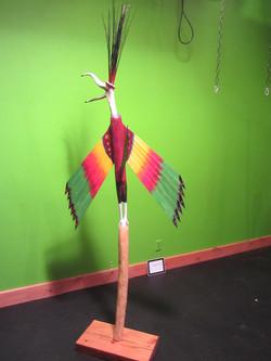 Happy Bird (wood, antler)