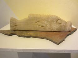 Carp (sandstone, stone base)