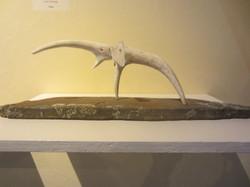 Elephant (antler, stone base)