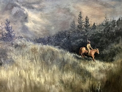 Spirit Rider oil painting
