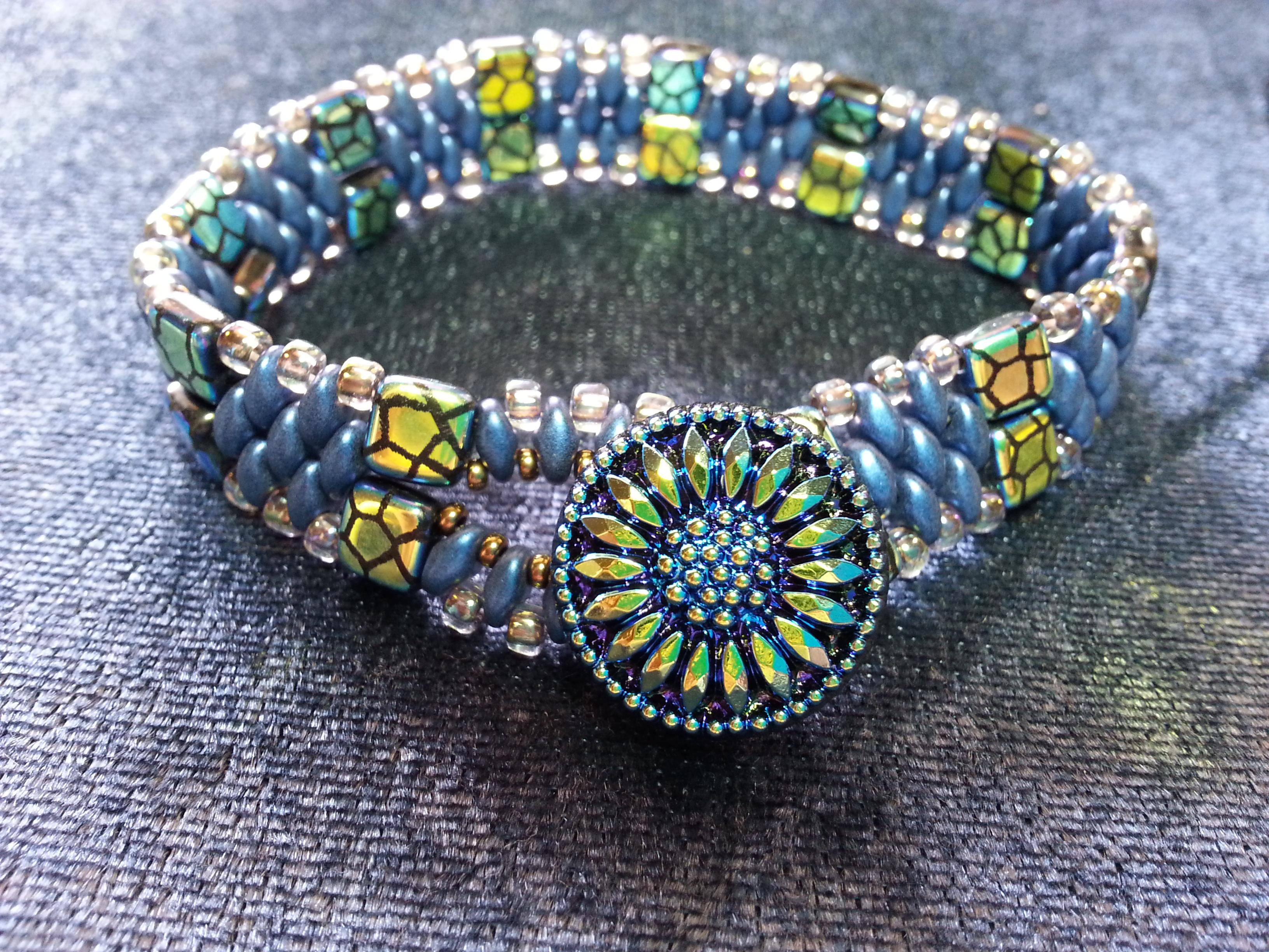 Sunflower Blues Bracelet