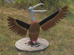 Buzzard (wood, antler, metal)