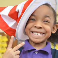 BCCS student during Dr. Seuss campaign