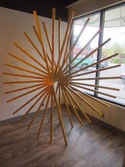 Dandelion (wood, metal spindle)