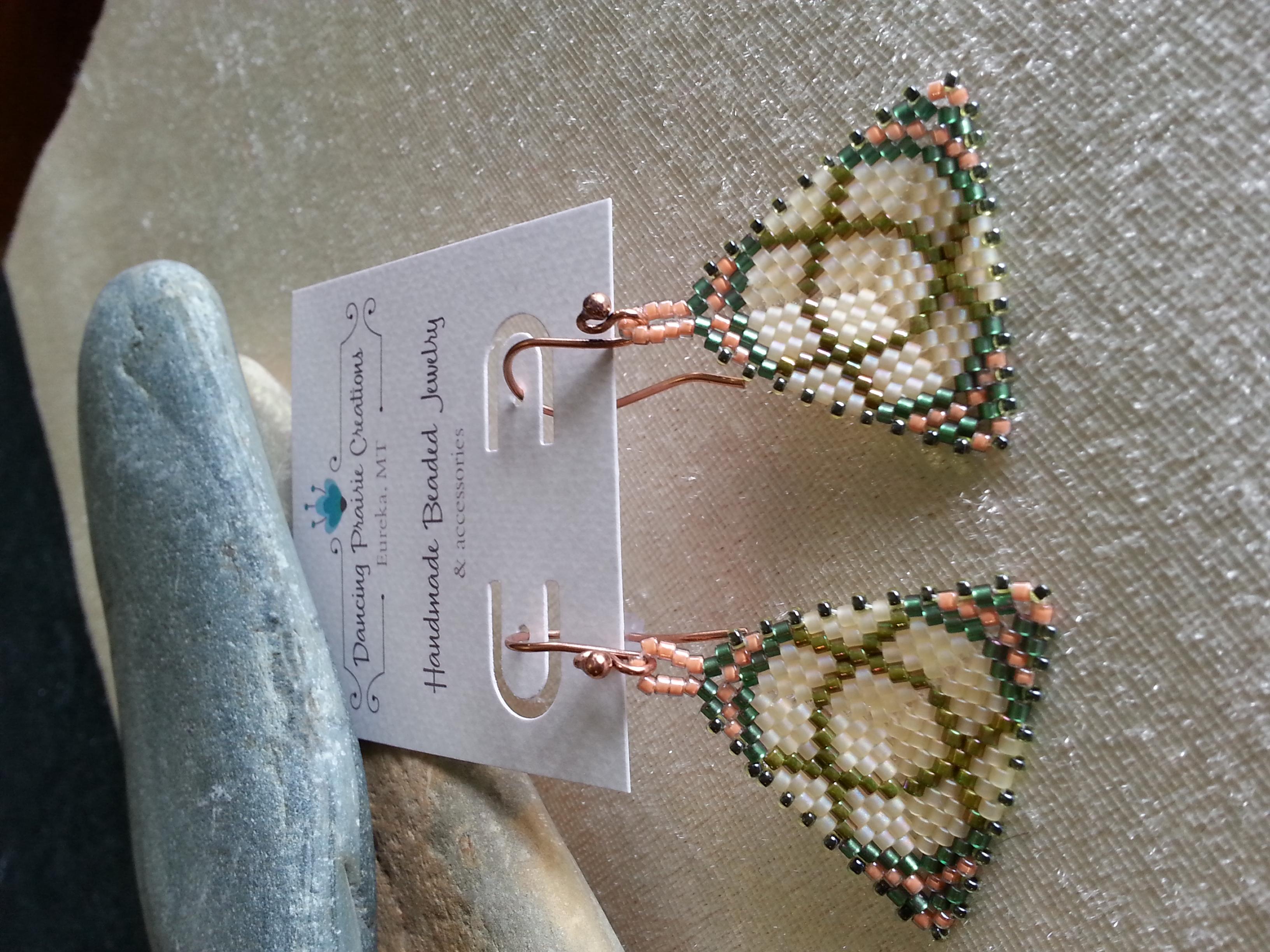 Peyote Celtic Earrings