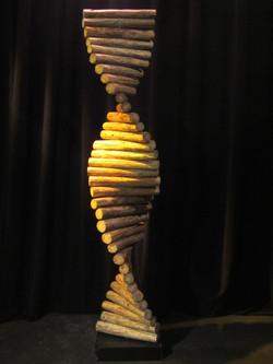 DNA strand (wood, metal spindle)