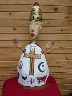 Pope's team jacket (wood, reeds)