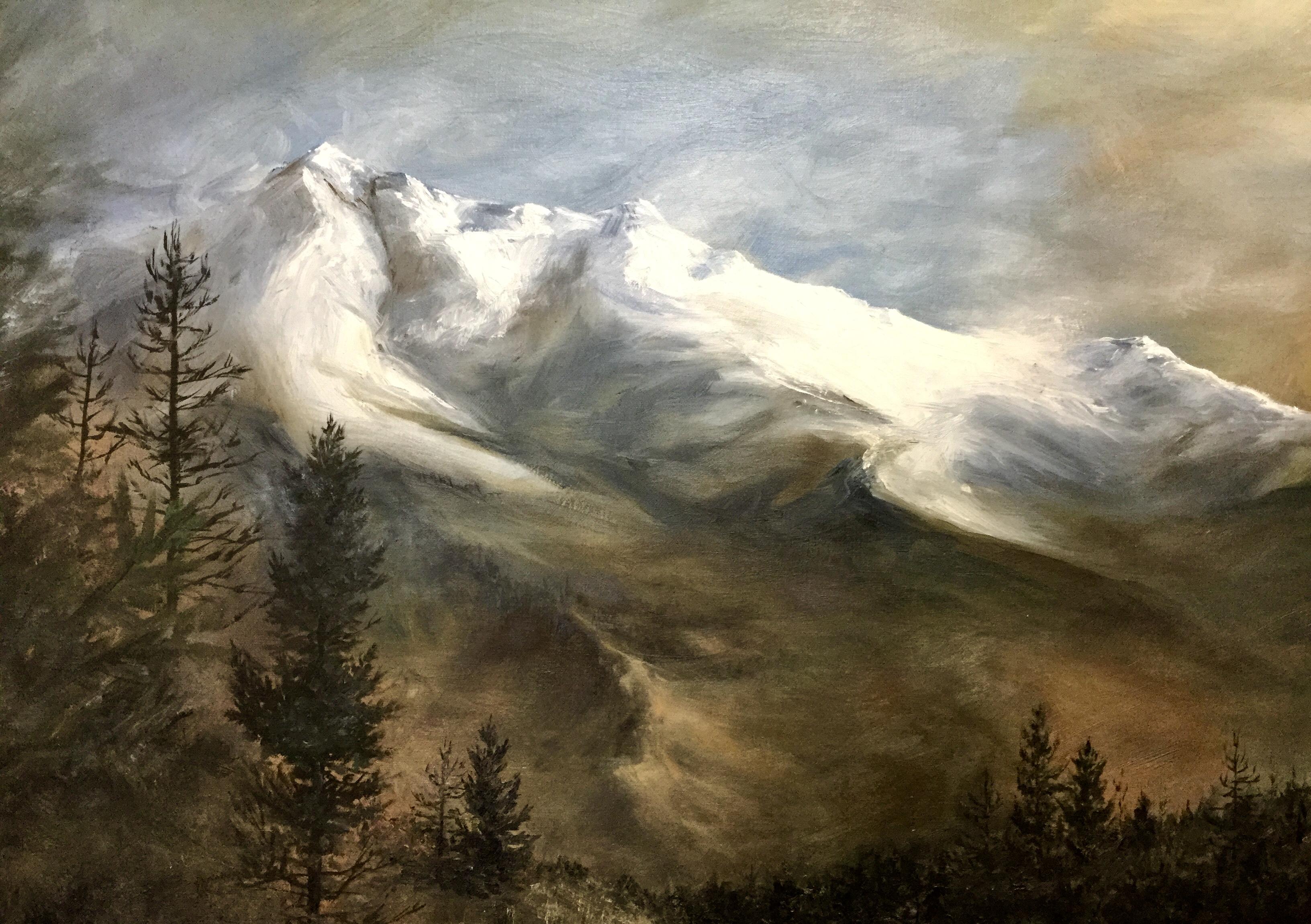 Ksanka Mountain oil painting