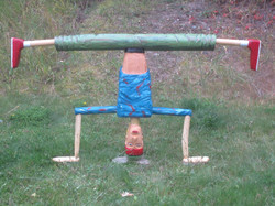 Headstand (wood)