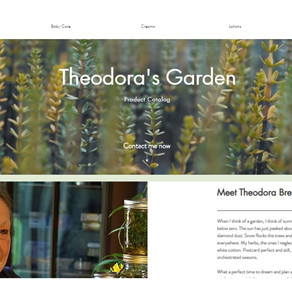 Herbal Garden product catalog