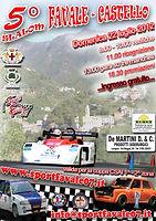 Locandina 5° Slalom Favale Castello 2012