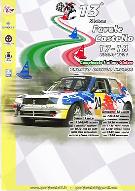 Bozza Locandina 13^ Slalom Favale - Cast