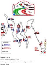 Cartina del percorso 13 Favale Castello