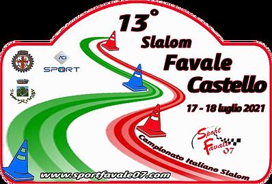 Adesivo 13° Slalom Favale Castello 2021s